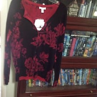 women's red and black floral dress Prattville, 36066