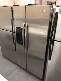 stainless steel side-by-side refrigerator with dispenser Charlotte, 28210
