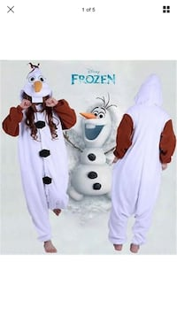 Olaf character costume from the Disney movie Frozen - Unisex oversized adult onesie costume. Brand new with tags Columbus, 31901