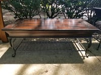 Wood Coffee table with metal base West Springfield, 22152