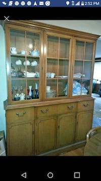brown wooden framed glass display cabinet Tacoma, 98466