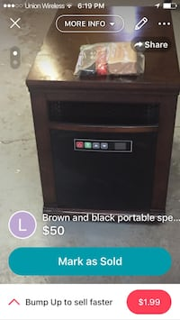 Quartz style heater lightly used works excellent with remote,extra elements, and scratch pen. Cheyenne, 82001