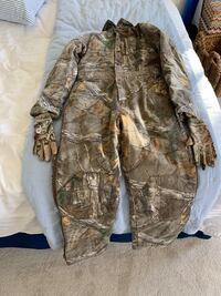 Youth camp hunting clothes and gloves redhead silent hide Edmond