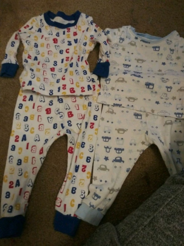 18fd3083e14d Used baby s white and blue footie pajama for sale in Covington - letgo