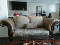 brown and gray fabric loveseat Courtice, L1E 2E8