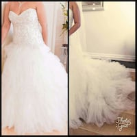 ruffled white sweetheart neckline tube wedding dress Silver Spring, 20904