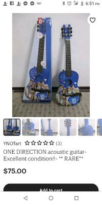 One direction guitar. Like new