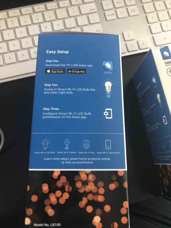 Tp link wifi bulbs (works with Alexa) (pack of 2)