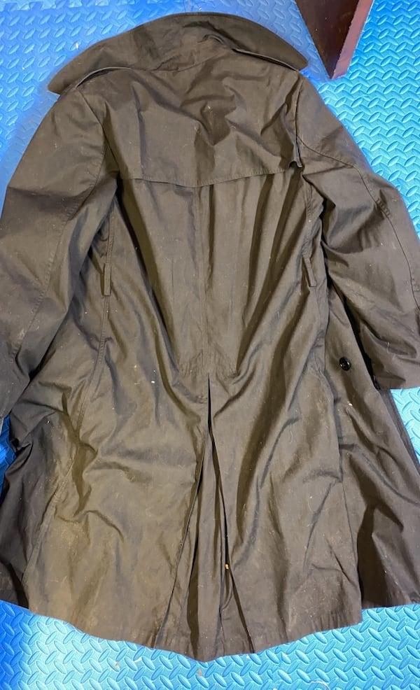 US Army Black Trench Coat 44L 6