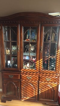 Wooden Glass Cabinet  536 km