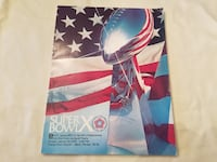 Super Bowl X program - Steelers vs. Cowboys Canonsburg