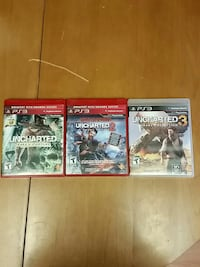 Uncharted 1, 2, and 3 for PS3 Ayr, N0B 1E0