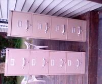 Two tan file cabinets 25.00 each