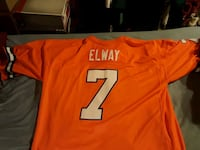 Orange John Elway Mitchell and ness Jersey Woodbine, 21797