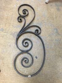black wrought iron wall decor 邓肯, V9L
