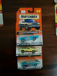 three assorted-color Matchbox die-cast toy car Barrie, L4N 8R4