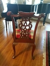 Brown wooden chair with multicolored fabric pad New Orleans, 70118