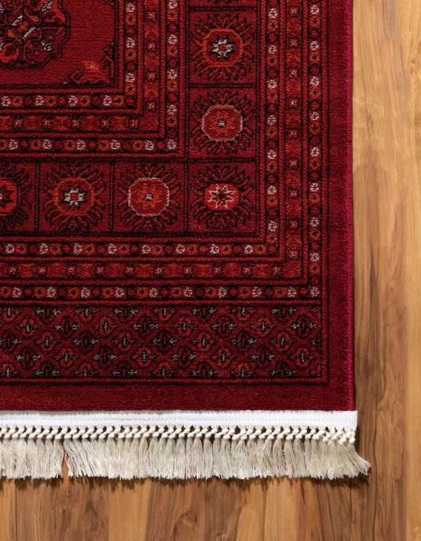 New bokhara design rug large size 8x11red carpet Persian style rugs 57a118a8-c619-41c5-98e9-f8a5d7b9a708