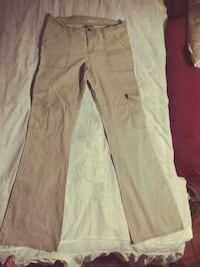 white and pink denim jeans
