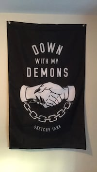 Sketchy tank, down with my demons banner