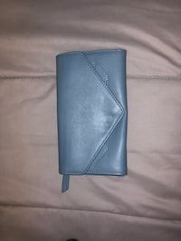 Blue leather bi-fold wallet Killeen, 76549