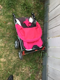 baby's black and red stroller Edmonton, T6X 1M9