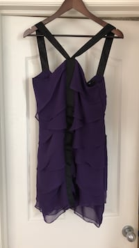 women's purple thick strap layered cocktail dress Calgary, T3H 0C4