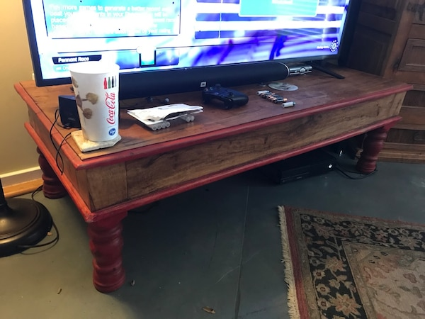 Coffee Table Tv Stand And Matching Armoir With 3 Drawers