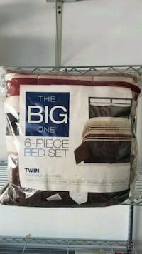 New 6 Piece Bed Set with Comforter twin style Stamford