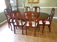 6 Chair Table set  & Curio  Cabinet
