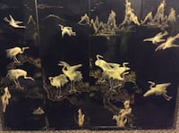 (4)  Four Asian black lacquered wall plaques. Charlotte, 28214