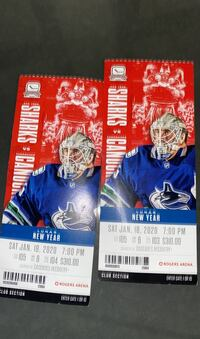 Tickets for tonight's game-club seats text or call  [TL_HIDDEN]  Maple Ridge, V2W 1B2