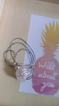 silver-plated necklace with tarnish free wire wrap Burlington, L7R 2C8