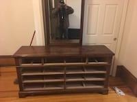 Dresser with mirror and leather couch Middletown, 10940