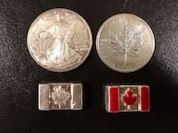 four silver and gold coins Mississauga, L5A 2W7