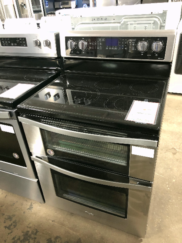 Used New Whirlpool Double Oven Electric Range Stove For Sale In