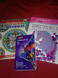 several assorted coloring books