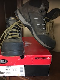 Wolverine edge LX safety toe SIZE: 10.5 Med. Worn 4 hrs Aliquippa, 15001