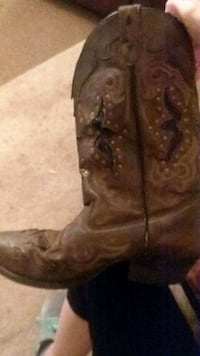 pair of brown leather cowboy boots Pine Mountain Valley, 31823