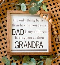Home decor fathers day sign - grandparents edition Fort George G Meade, 20755
