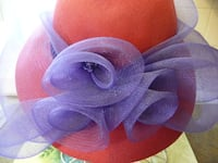 Vintage Red and Purple Ladies Hat for Victorian Times  PALMERTON