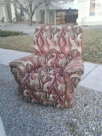 brown and gray floral padded chair Albuquerque, 87111