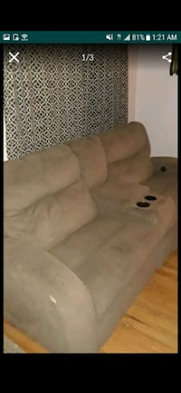 Couch electric reclining 100 a piece or 165 for both
