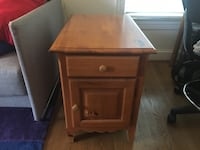 brown wooden 2-drawer nightstand Falls Church, 22043