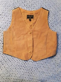 women's brown button up vest Hewitt, 76643