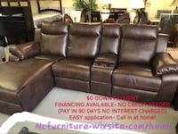 Brand new 2 pcs brown recliner sectional Norcross