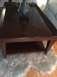 rectangular brown wooden coffee table Ajax, L1T 3Z9