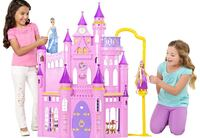 pink and purple plastic castle toy Houston, 77083