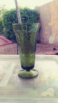 Green Glass Vase Phoenix, 85022