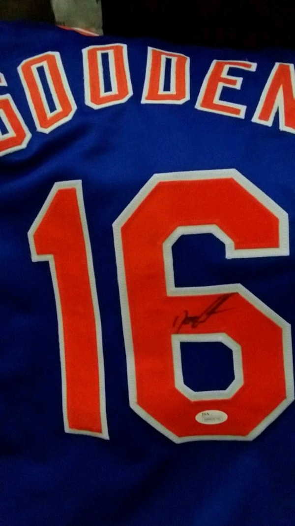 pretty nice 326eb 3622f Dwight Gooden Signed Mets Jersey